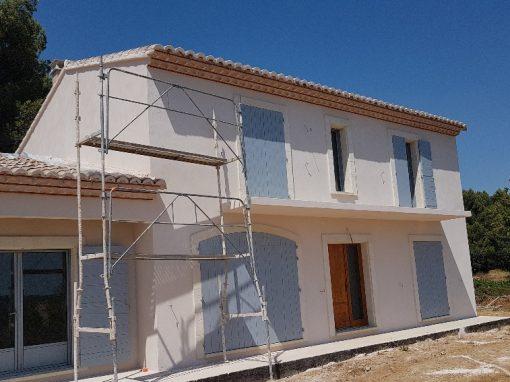 Construction d'une villa neuve dans le Gard
