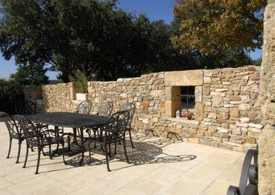 Terrasse rénovée-pose-nouveau-dallage